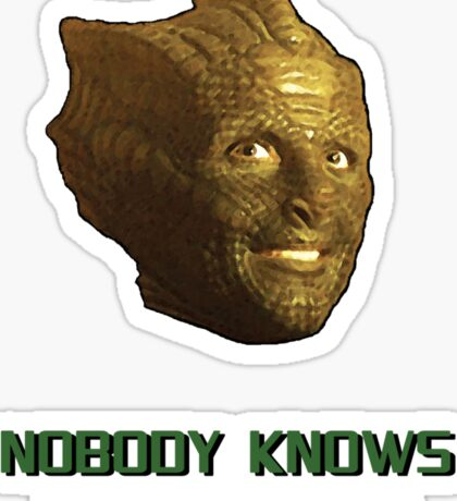Doctor Who's Madame Vastra - Nobody Knows I'm a Lizard Sticker