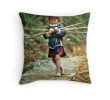 Manual labour Throw Pillow