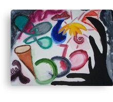 Revenge of the Flamboyant Umbrella Canvas Print