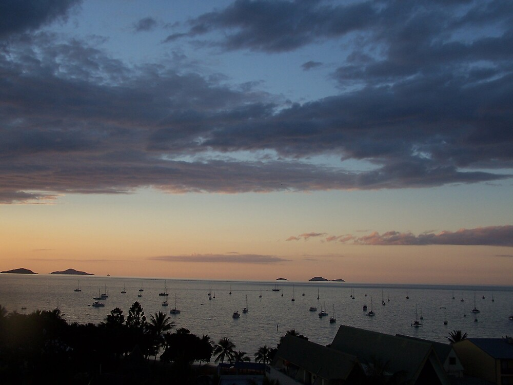 Sunset over Airlie Beach by Lissy