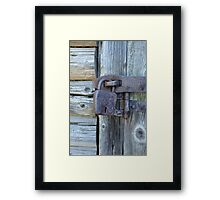 door shut Framed Print