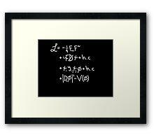 Universe Lagrangian Framed Print