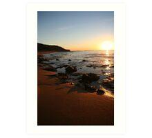 Sunrise at Bells Beach Art Print