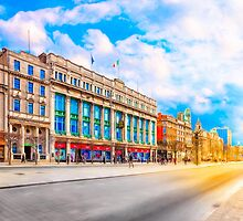 Standing On O'Connell Street On A Winter Morning by Mark Tisdale