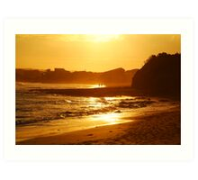 Sunset, Torquay Surf Beach,Great Ocean Road Art Print