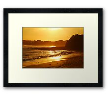 Sunset, Torquay Surf Beach,Great Ocean Road Framed Print