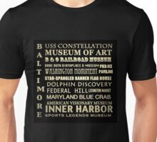Baltimore Maryland Famous Landmarks Unisex T-Shirt