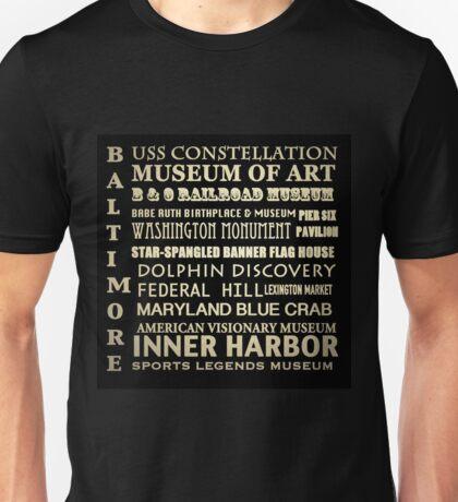 Baltimore Maryland Famous Landmarks Unisex T-Shirt
