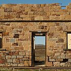 North Peake Ruins,Old Ghan Railway by Joe Mortelliti