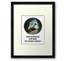 Smart Green Peafowl Framed Print