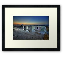 Merewether Ocean Baths at Dawn 1 Framed Print