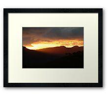 Blazing Sunset Grampians Framed Print