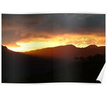 Blazing Sunset Grampians Poster
