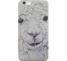 Alpaca in Black and White iPhone Case/Skin