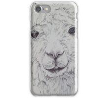 Alpaca in Black and White iPhone Case/Skin