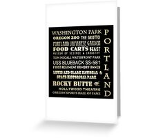 Portland Oregon Famous Landmarks Greeting Card