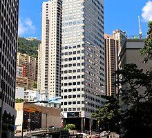 HK Central Buildings III - Hong Kong. by Tiffany Lenoir