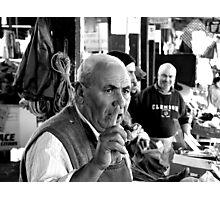 market salesman Photographic Print