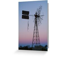 Windmill, Mt Dare Station,Outback Australia Greeting Card
