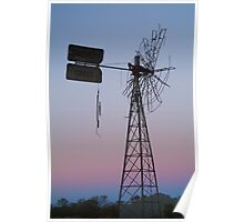 Windmill, Mt Dare Station,Outback Australia Poster