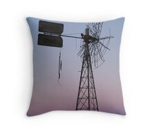 Windmill, Mt Dare Station,Outback Australia Throw Pillow