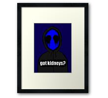 Eyeless Jack Got Kidneys? Framed Print