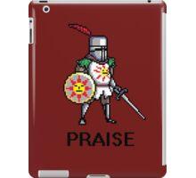 Solaire of Astora PRAISE pixelated iPad Case/Skin
