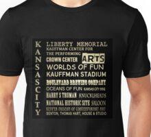 Kansas City Famous Landmarks Unisex T-Shirt