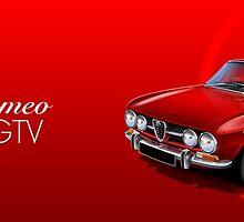 Alfa Romeo GTV Illustrated mug wrap by RJWautographics