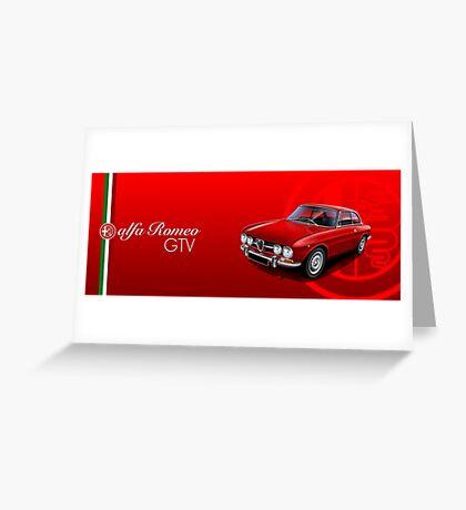 Alfa Romeo GTV Illustrated mug wrap Greeting Card
