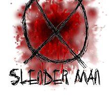 Slenderman blood spatter and symbol by GrimDork