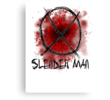 Slenderman blood spatter and symbol Canvas Print
