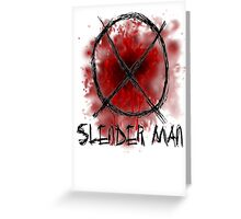 Slenderman blood spatter and symbol Greeting Card