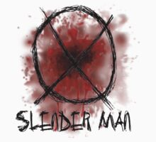 Slenderman blood spatter and symbol T-Shirt