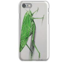 Katidid in Green and Black Ball Point iPhone Case/Skin