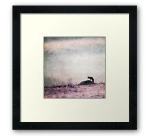 I only hear silence Framed Print