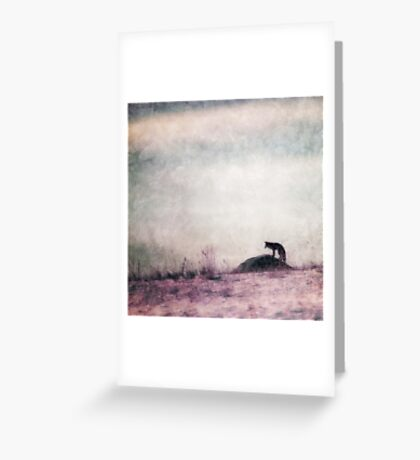 I only hear silence Greeting Card