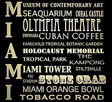 Miami Florida Famous Landmarks by Patricia Lintner