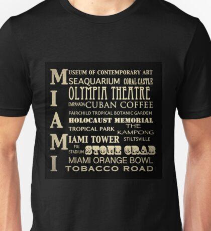 Miami Florida Famous Landmarks Unisex T-Shirt
