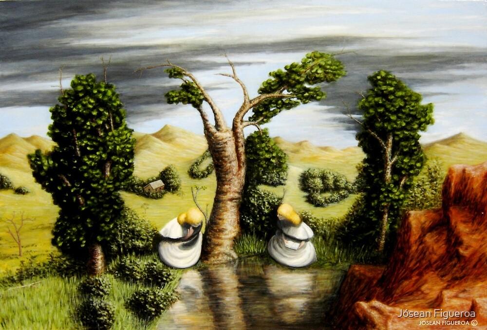 Sacred Conversation •  Double Image Composition IV by Jósean Figueroa