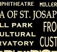 Milwaukee Wisconsin Famous Landmarks Sticker