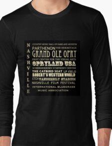 Nashville Tennessee Famous Landmarks Long Sleeve T-Shirt