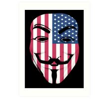 Guy Fawkes American Flag Art Print