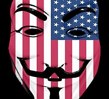 Guy Fawkes American Flag by GrimDork