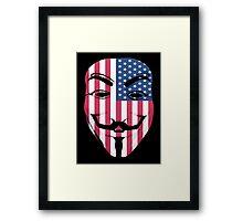 Guy Fawkes American Flag Framed Print