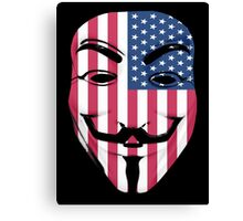 Guy Fawkes American Flag Canvas Print