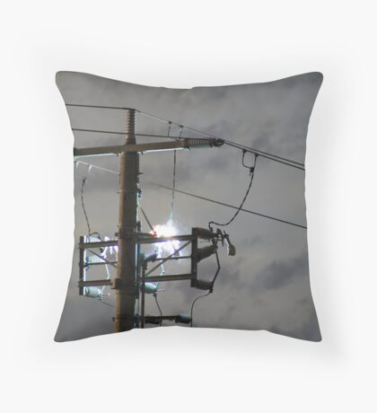 Power shorting out Throw Pillow