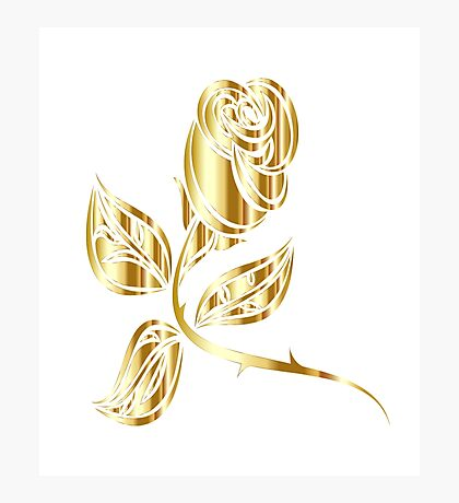 The Golden Rose Photographic Print