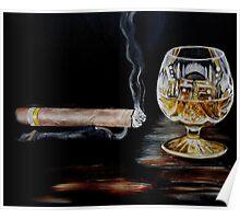 Cigar & Brandy Poster