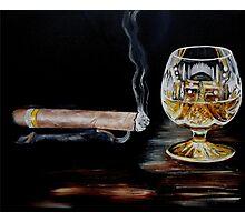 Cigar & Brandy Photographic Print